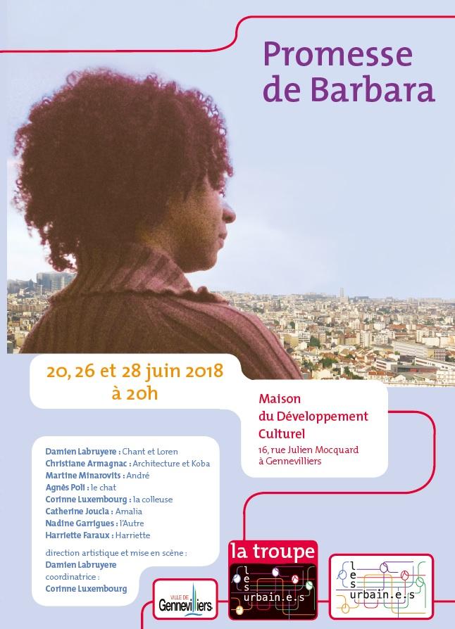 Promesse de Barbara, la nouvelle création théâtrale des Urbain.e.s